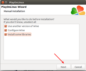 Configure installation type